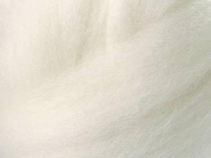 Australian Merino Wool Strip - WHITE - 21 micron
