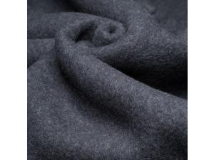 Soft Merino Cotton Fleece, ANTRACIT, GREY, 420g/m2, width 130 cm