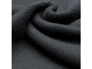 Soft Merino Cotton Fleece, mottled, BLACK, 420g/m2, width 130 cm