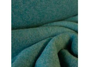 Soft Merino Cotton Fleece, mottled, GREEN, 420g/m2, width 130 cm
