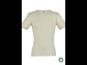BIO Merino-Silk  Men's Short Sleeves vest, fine fib, NATURAL