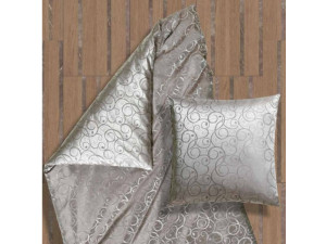 AMADEUS GRIGIO Silk Flat sheet - Lighter Jacquard silk