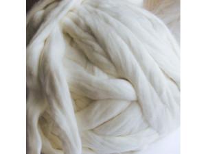 Angora wool in strips, NATUR