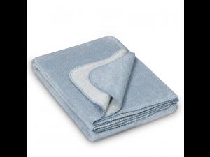 BIO Doubleface Cotton blanket - BLUE Mottled