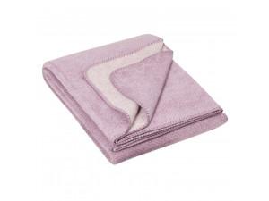 BIO Doubleface Cotton blanket - PASTEL PURPLE Mottled