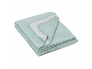 BIO Doubleface Cotton blanket - TURQUOISE Mottled