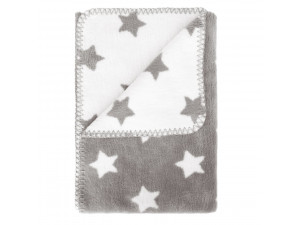 BIO Baby Doubleface Cotton blanket - GREY & WHITE