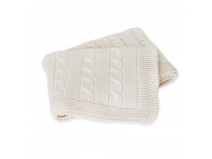 BIO Baby Knitted Cotton blanket - NATURAL