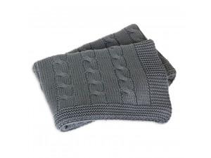 BIO Baby Knitted Cotton blanket - GREY