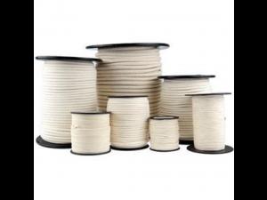 Cotton braided cord, Ø 5 mm
