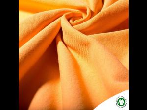 BIO cotton thicker sweet jersey, YELLOW, ORANGE,  width 160 cm, weight 260 g/m2