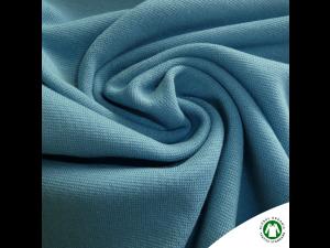 BIO Cotton Ripp jersey, BLUE,  width 145 cm, weight 240 g/m2