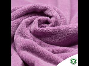 BIO Cotton Knitted Terry, PURPLE,  width 160 cm, weight 290 g/m2