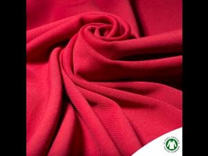 BIO Cotton Ripp jersey, RED, width 145 cm, weight 240 g/m2
