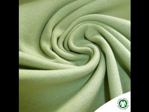 BIO Cotton Ripp jersey, LIGHT GREEN,  width 145 cm, weight 240 g/m2