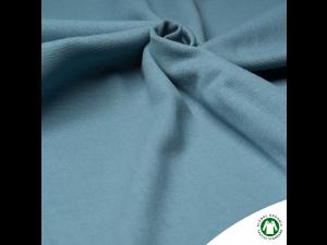 BIO Cotton Ripp jersey, GREY BLUE,  width 145 cm, weight 240 g/m2