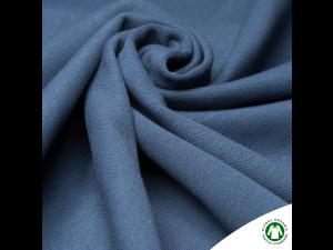BIO Cotton Ripp jersey, DARK BLUE -  width 145 cm, weight 240 g/m2
