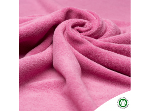 BIO Cotton Knitted Terry, PINK,  width 160 cm, weight 290 g/m2