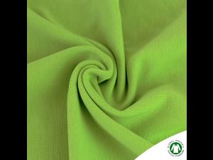 BIO Cotton Ripp jersey, APPLE GREEN,  width 145 cm, weight 240 g/m2