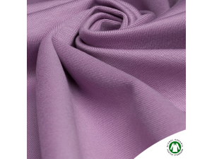 BIO Cotton ribbed jersey, double-sided, LIGHT PURPLE, 240 g / m2, width 145 cm