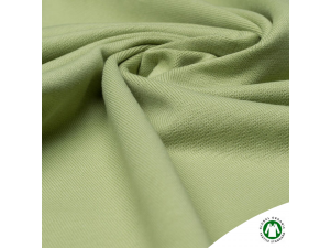 BIO Cotton ribbed jersey, double-sided, LIGHT GREEN, 240 g / m2, width 145 cm