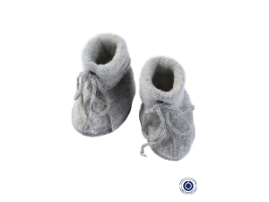 BIO Merino Fleece Baby slippers, GREY