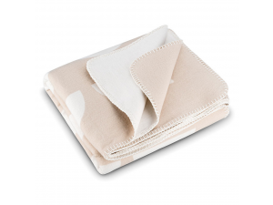 BIO Cotton blanket - WHITE & NATURAL
