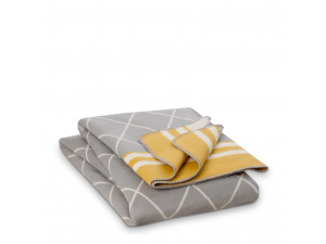 BIO Cotton blanket - GREY & YELLOW