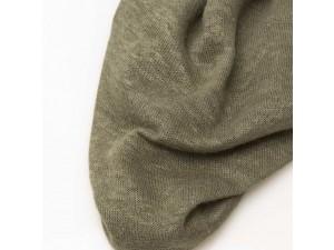 ECO Hemp Jersey, GREEN / GRAY, width 110cm, weight 130g/m2