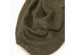 ECO Linen Jersey, OLIVE GREEN, width 130cm
