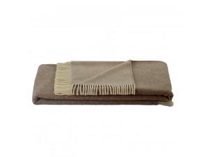 BIO Doubleface sheep wool blanket - BEIGE / CREME