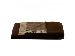 BIO Doubleface sheep wool blanket - BROWN / BEIGE