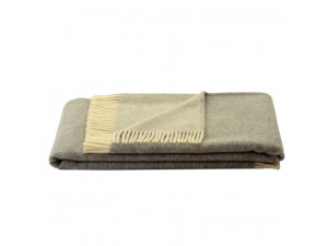 BIO Doubleface sheep wool blanket - GREY / CREME