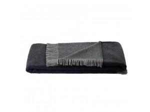 BIO Doubleface sheep wool blanket - DARK GREY / LIGHT GREY