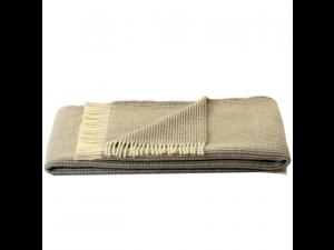 Sheep wool blanket - BEIGE & CREME Waffel