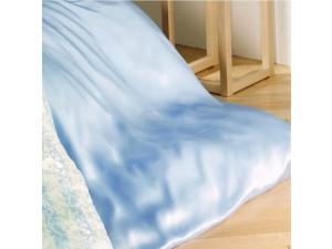 Silk flat sheet, Thinner silk - LIGHT BLUE / 22 momme (mm)