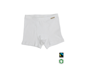 BIO Cotton boys' boxer underpants, WHITE - 104 to 164