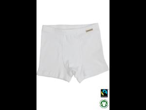 BIO Cotton boys' boxer underpants, WHITE - 104 to 164