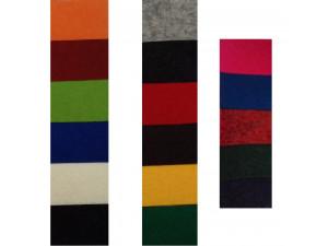Wool Felt, SAMPLE CARD - for width 200 cm, thickness cca 3 mm