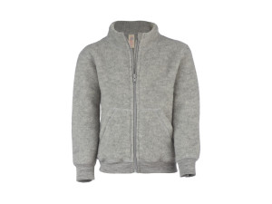BIO Merino Fleece Children`s Jacket, GREY - 128 to 152