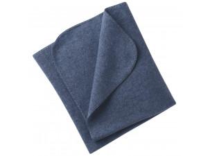 BIO Merino Fleece Baby`s Blanket, BLUE - 80 x 100 cm
