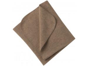 BIO Merino Fleece Baby`s Blanket, BROWN - 80 x 100 cm