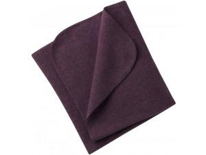 BIO Merino Fleece Baby`s Blanket, PURPLE - 80 x 100 cm