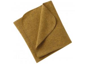 BIO Merino Fleece Baby`s Blanket, YELLOW - 80 x 100 cm