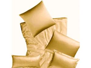 Silk fitted sheet, Lighter silk - GOLD / 22 momme (mm)