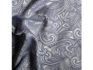Silk Jacquard Fabric, thicker silk, BLUE, width 280 cm