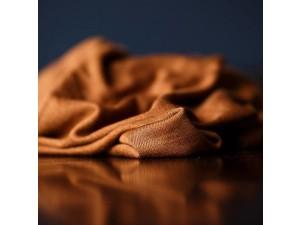ECO Merino Silk jersey - COPPER BROWN 180 g / m2, width 150 cm