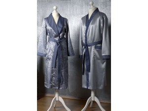 Men´s Silk Morning robe - NATURAL