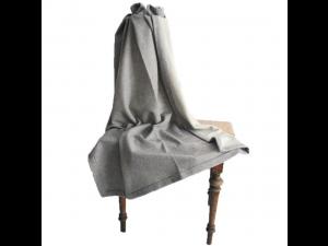 Doubleface cashmere lambswool blanket - GREY