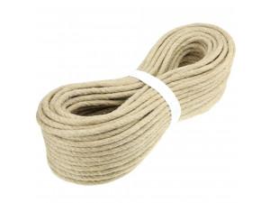 Hemp rope, NATURAL, Ø 12 mm / 6 pcs á 3,50 m